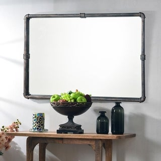 "Piper 37.25"" Vintage Metal Wall Mirror"