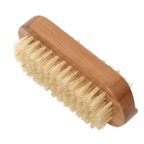 Evideco Spa Wellness Nail Natural Silk Brush Wood Palm Held