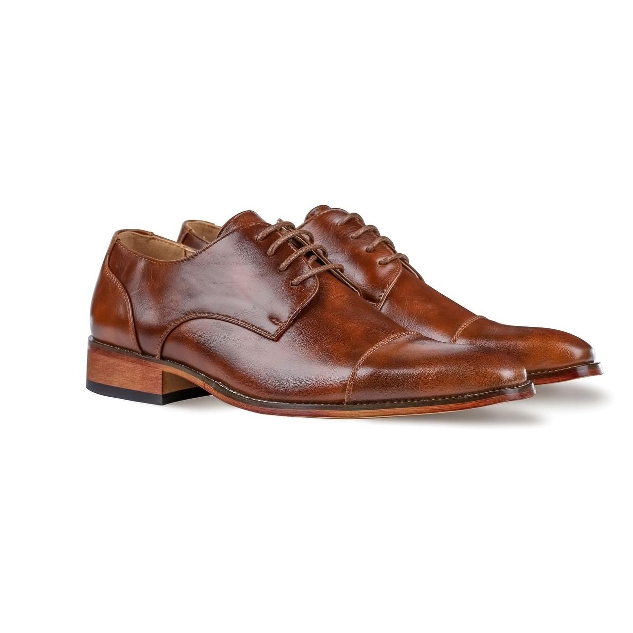Details about UV Signature Mens Cap Toe Dress Shoes 2e16eae903c