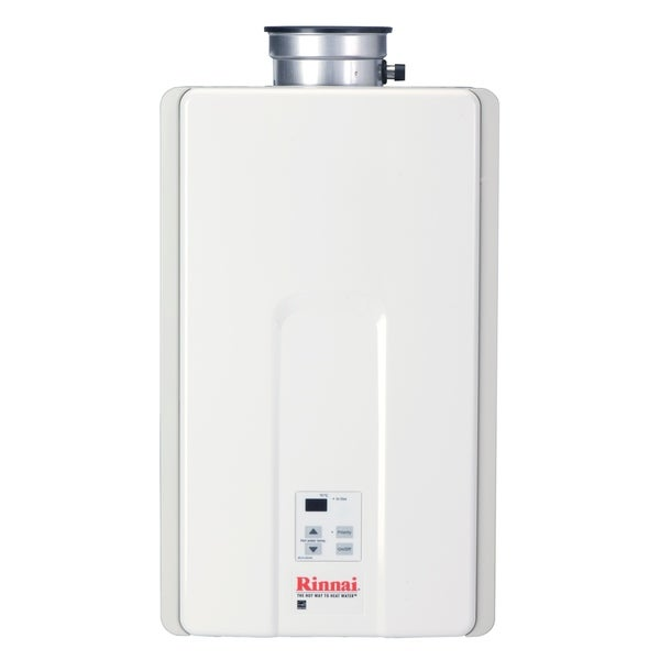 Rinnai Tankless Water Heater (Residential, Interior, max. Btu, 199,000, 9.8gpm) V94iP White