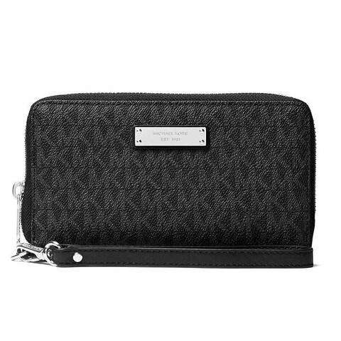 Michael Kors Jet Set Large Black Multifunction Phone Case Wallet
