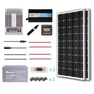 Renogy 200W 12V Premium Solar Complete Kit with AGM Battery