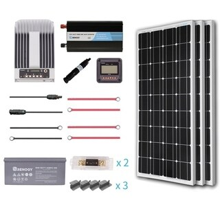 Renogy 300W 12V Mono Premium Solar Complete Kit With AGM Battery