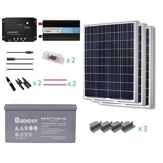 Renogy 300W 12V Poly Starter Complete Kit With AGM Battery
