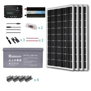 Renogy 400W 12V Mono Starter Complete Kit With AGM Battery