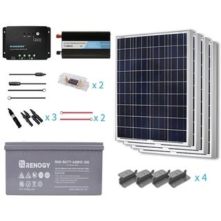 Renogy 400W 12V Poly Starter Complete Kit With AGM Battery
