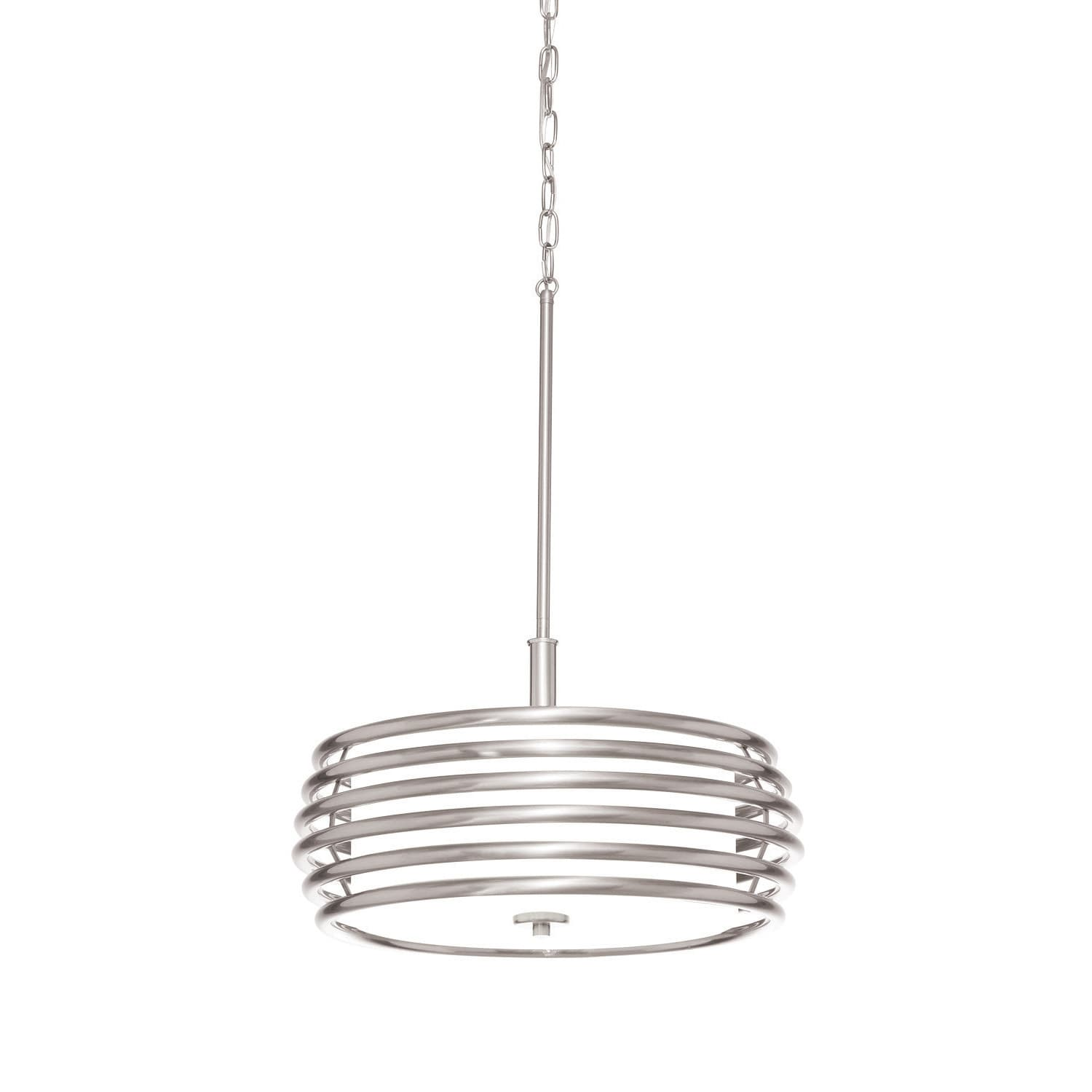 Aztec Lighting Contemporary 3 Light Brushed Nickel Pendant On Sale Overstock 18062854