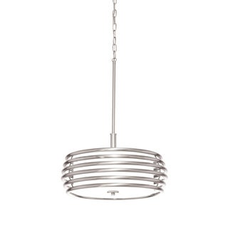 Aztec Lighting Contemporary 3-light Brushed Nickel Pendant
