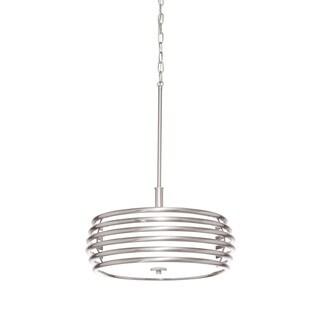 Aztec Lighting Contemporary 3-light Brushed Nickel Pendant