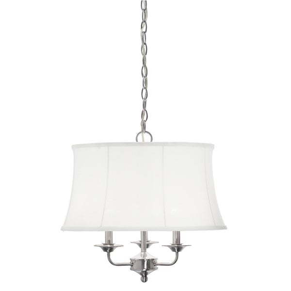 Aztec Lighting Traditional 3 Light Brushed Nickel Chandelier
