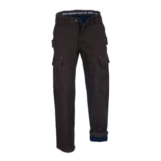 Smith's Workwear Men's Bonded-Fleece Lined Stretch Duck Canvas Cargo Pant