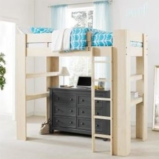 Avenue Greene Marta White Rustic Twin Loft Bed