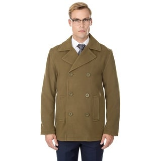 Braveman Men's Double Breasted Wool Blend Coats