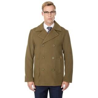 Braveman Men's Double Breasted Wool Blend Coats