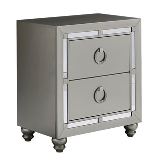 Silver Orchid Prince Silver Nightstand