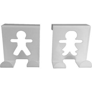 Metal Over Cabinet Door Hooks Fellow Couple up to 3/4'' Set of 2