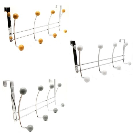 Over The Door 8 Hooks Organizer Rack