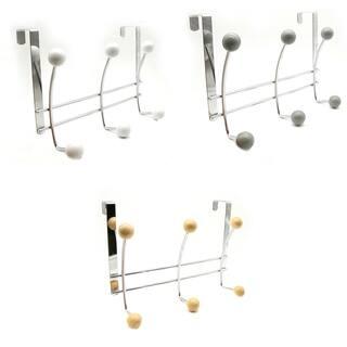 Over the Door 6 Metal Hooks Rack Organizer Chrome|https://ak1.ostkcdn.com/images/products/18063013/P24225812.jpg?impolicy=medium