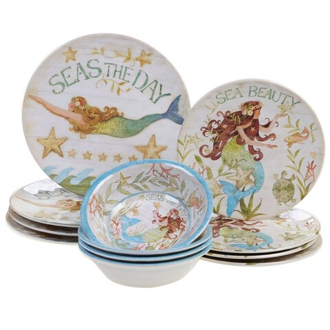 Certified International Sea Beauty 12 pc Dinnerware Set