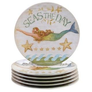 Certified International Sea Beauty 11 inch Dinner Plate Set of 6