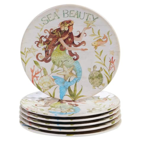 Certified International Sea Beauty 9 inch Salad Plate Set of 6