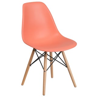 Elon Series Plastic Chair with Wood Base