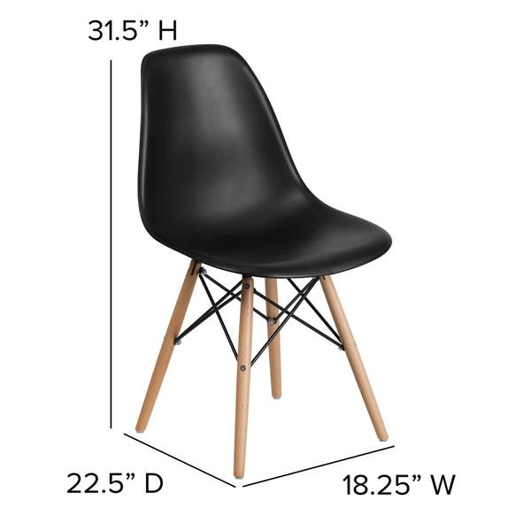 Awesome Shop Plastic Side Chair Wood Legs On Sale Free Shipping Ibusinesslaw Wood Chair Design Ideas Ibusinesslaworg