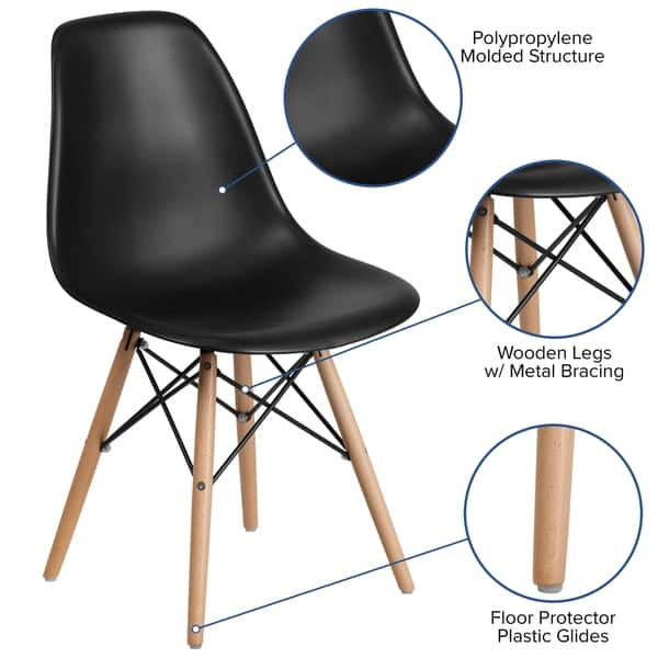 Groovy Shop Plastic Side Chair Wood Legs On Sale Free Shipping Ibusinesslaw Wood Chair Design Ideas Ibusinesslaworg