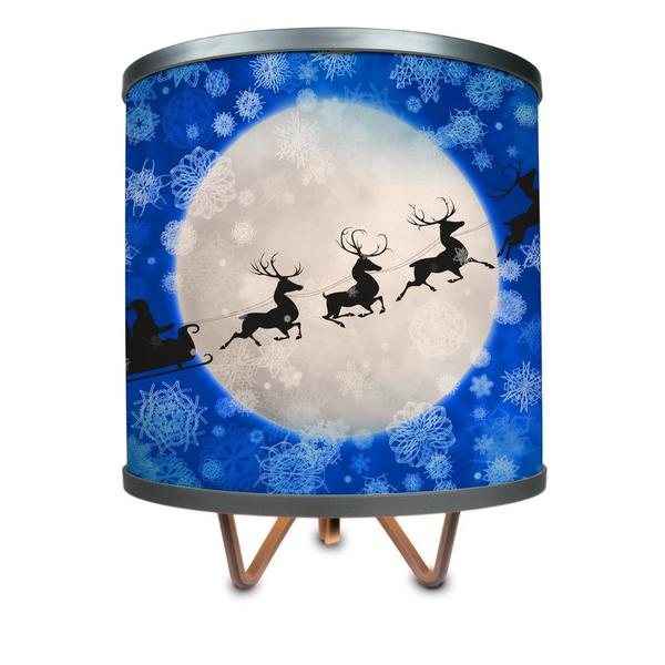 Santa Is On His Way! More Than a Lamp, Framed Art Now Comes Down From the Wall