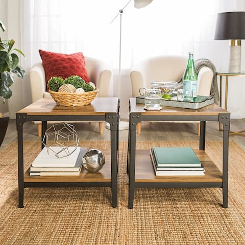 Carbon Loft Witten Angle Iron Side Tables (Set of 2)