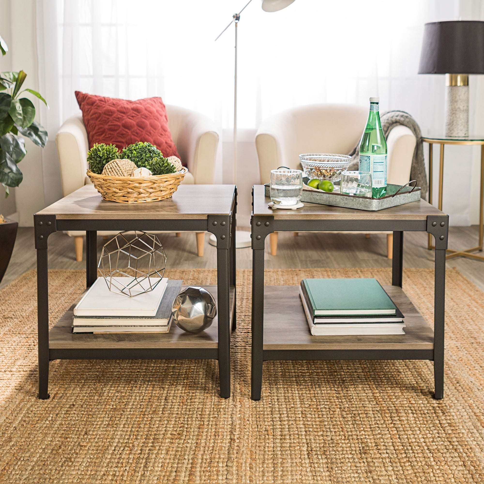 Shop carbon loft witten iron end table set of 2 20 x 20 x 20h on sale free shipping today overstock 18063073