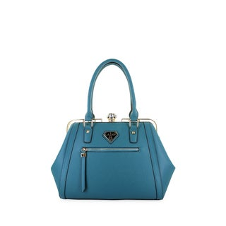 LANY Fiona Faux Leather Stone Clasp Satchel Handbag|https://ak1.ostkcdn.com/images/products/18063075/P24225859.jpg?_ostk_perf_=percv&impolicy=medium