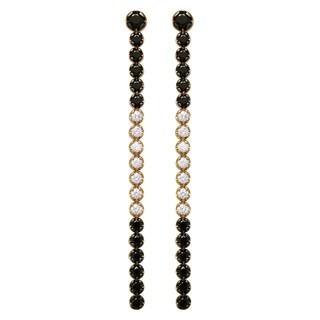 14k Yellow Gold 1.5 Carat Skinny Diamond Dangling Earrings
