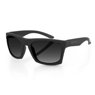 Bobster Capone ECAP001 Men's Matte Black Frame Smoked Lens Sunglasses