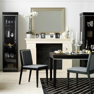 Voelkel Classic Collection Dark Oak Finish Extending Dining Table