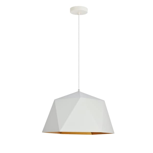 Arden Collection Pendant D17.7 H11.4 Lt:1 White and Golden inside Finish