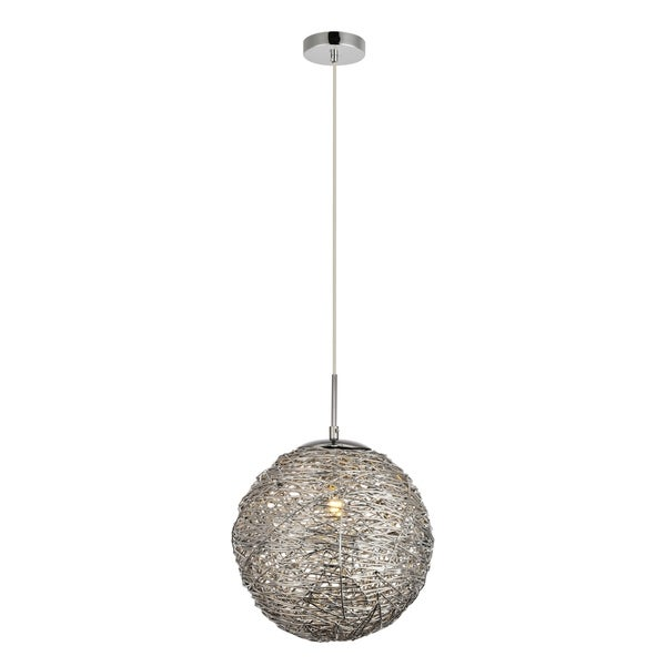 Lilou Collection Pendant D11.4 H12.3 Lt:1 Chrome Finish