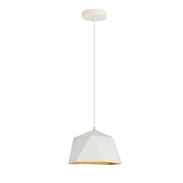 Arden Collection Pendant D10.2 H6.7 Lt:1 White and Golden inside Finish