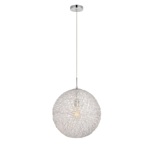 Lilou Collection Pendant D15.7 H16.8 Lt:1 Chrome and Clear Finish