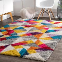 nuLoom Contemporary Radiance Multicolor Bohemian Shag Rug - 8' x 10'