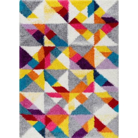 nuLOOM Multicolor Contemporary Radiance Bohemian Shag Rug