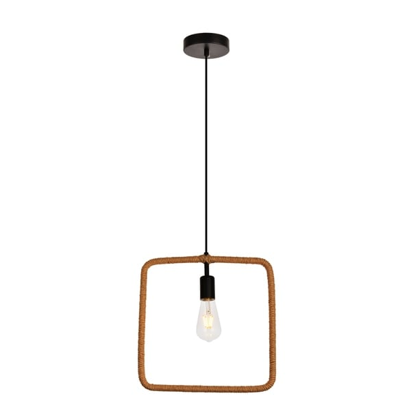 Gerrit Collection Pendant D1.6 H14.2 Lt:1 Black and Brown Finish