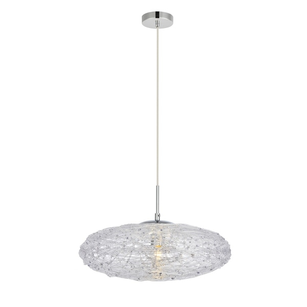 Lilou Collection Pendant D16.1 H7.1 Lt:1 Chrome and Clear Finish