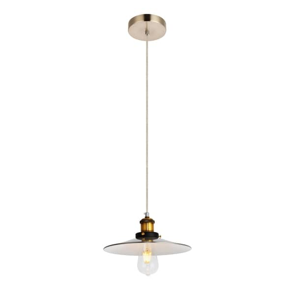 Piers Collection Pendant D10.2 H4.5 Lt:1 Burnished Nickel Brass and White inside Finish - N/A