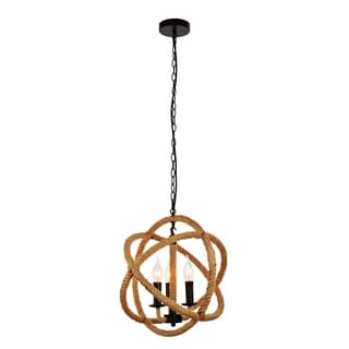Gerrit Collection Black/Brown Iron 16.7-inch High x 15.7-inch Diameter 3-light Pendant