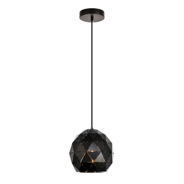 Arden Collection Pendant D7.9 H8.3 Lt:1 Black Finish