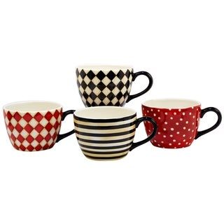 Certified International Coffee Always 32 oz. Jumbo Cups in Assorted Designs Set of 4