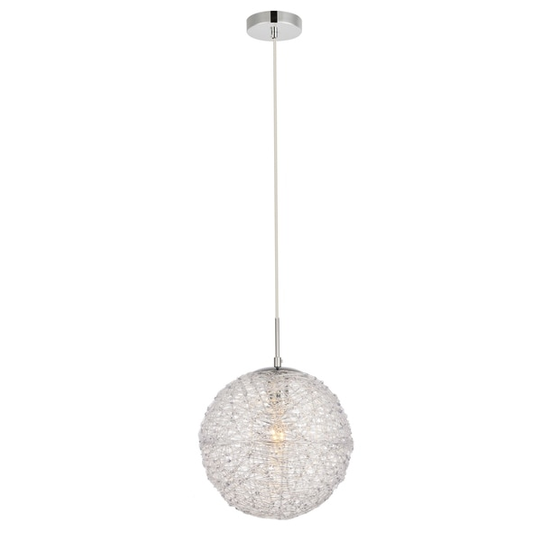 Lilou Collection Pendant D11.4 H12.3 Lt:1 Chrome and Clear Finish