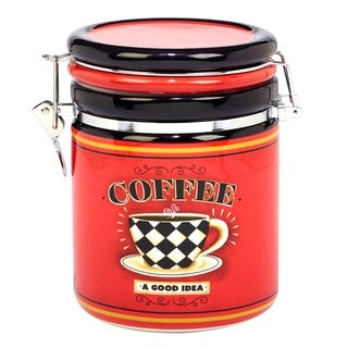 Certified International Coffee Always 52 oz. Clip Top Canister