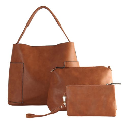 Diophy Large Hobo with Matching Bags 3 Pieces Set